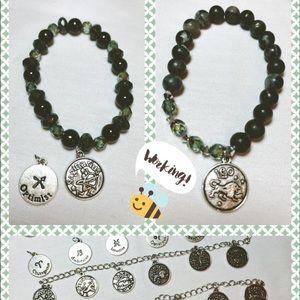 Accessories - Zodiac Semi precious crystal bracelets.